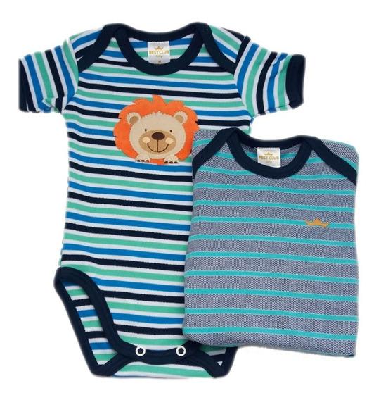 Kit Body Conjunto Infantil Menino 2 Peças Bebê Promoção