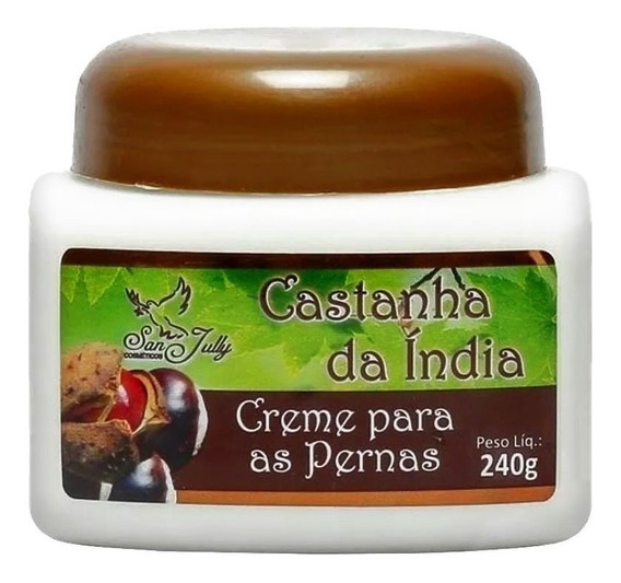 3 Creme De Castanha Da India San Jully Para As Pernas 240g