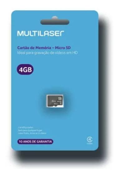 Cartao De Memoria Classe 4 4gb - Mc144 Multilaser