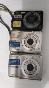 Kit 3x Maquinas Fotográficas Digitais Para Retirar Peças