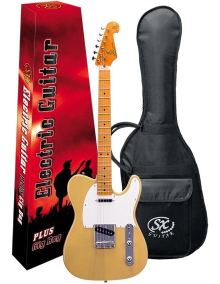 Guitarra Electrica Sx Telecaster Funda Pua Combo Ftl50