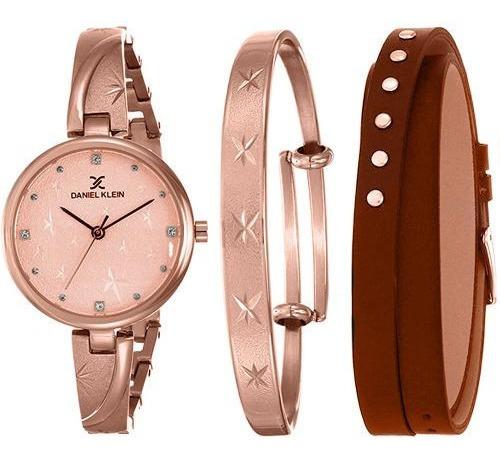 Relógio Analógico Daniel Klein Gift Set Dk12101-4 + Pulseira
