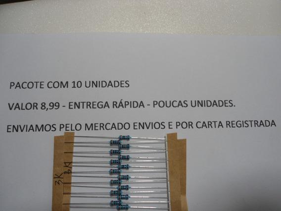 Resistor / 3k X 1/4w - 1% De Tolerancia - Envio Por Carta.