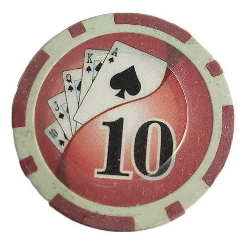 Imagen 1 de 7 de Tubo 25 Fichas De Poker Numeradas X 11.5grs N10