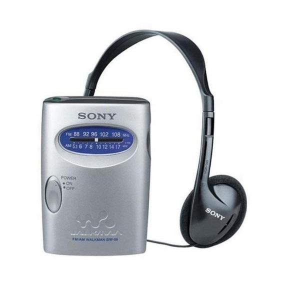 Rádio Portátil Walkman Sony Srf-59 Ideal P Idoso