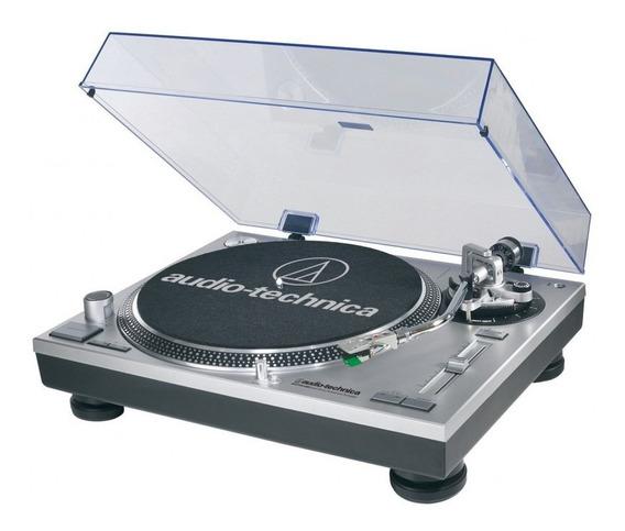 Toca Discos Audio Technica At-lp120x Usb - Lancamento -prata
