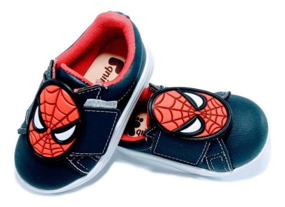 Sapato Infantil Menino Personagem Homem Aranha Pequenino