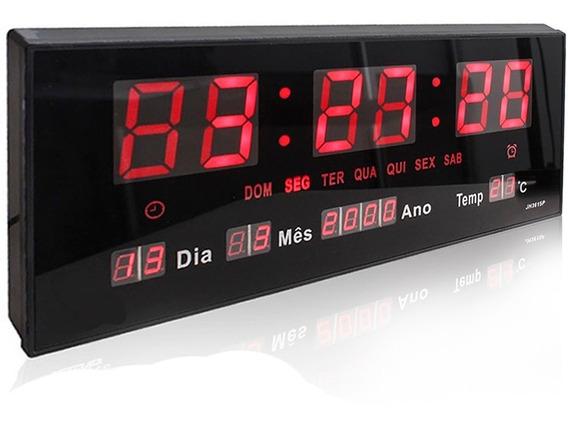 Relógio De Parede Led Digital G Termômetro Alto Brilho Data