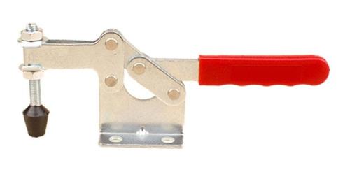 Soldadura Moldeo Carpinter/ía dcsdcs Herramienta De Liberaci/ón De La Herramienta De Mano 4pcs Toggle Clamp Antislip Red Horizontal De La Abrazadera R/ápida para Utilizar La M/áquina