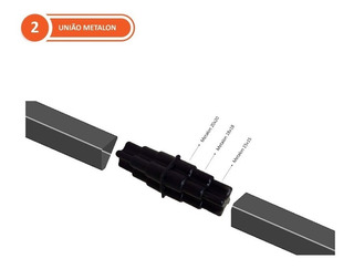União Para Metalons 15x15 / 18x18 / 20x20 (mm) - 50 Unidades