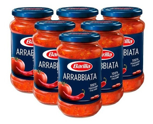Imagen 1 de 2 de Salsa Barilla Arrabbiata X 6 U.