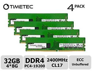 Timetec Hynix 32gb Kit (4x8gb) Ddr4 2400mhz Pc4-19200 Unbuff
