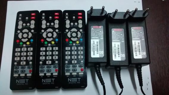 Kit Com 1 Controle E Fonte 12v Original Net Cr2fu Usados