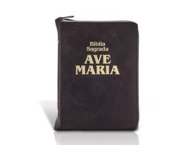 Biblia Ave Maria Média Com Ziper
