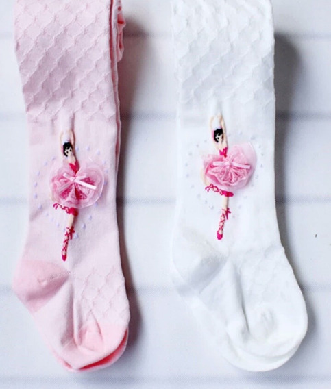 Meia Calça Infantil Ballet Bordada