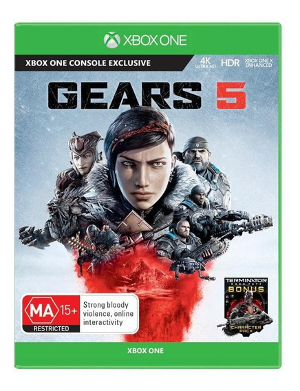 Jogo Gears Of War 5 Xbox One Mídia Física Original Lacrado