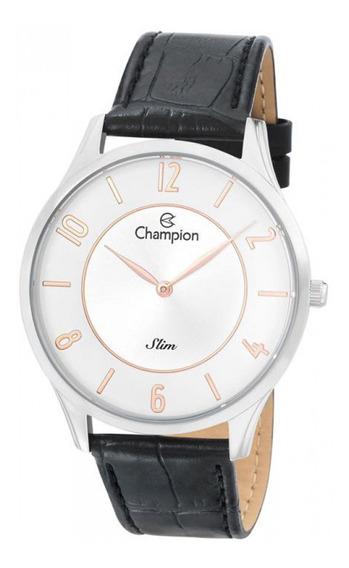 Relógio Champion Masculino Slim Prateado Ca21759s