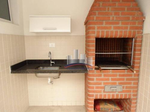 Imagem 1 de 30 de Sobrado Com 2 Dormitórios À Venda, 121 M² Por R$ 650.000,00 - Campo Grande - Santos/sp - So0202