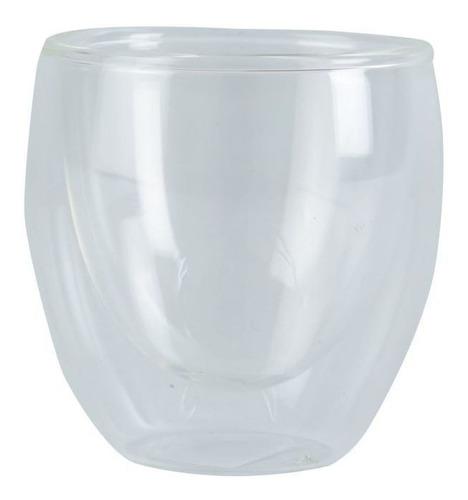 Mug De 80 Cc Con Doble Pared Vidrio