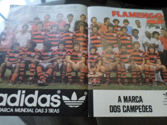 Poster Flamengo Rio De Janeiro Década De 70 Placar adidas