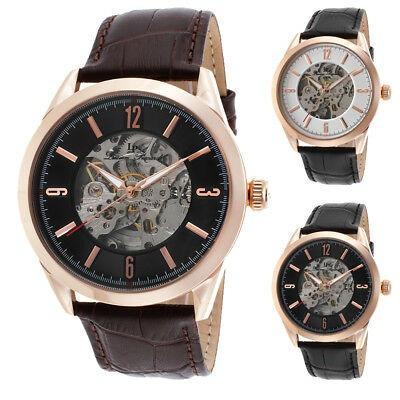 Reloj Esqueleto Para Hombre Lucien Piccard Loft Automático