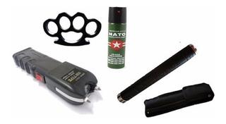 5 Kit Defensa Personal Taser 20mil Tambo Gas Manopla Carnet