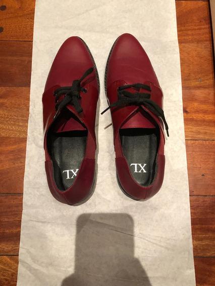 Zapatos Abotinados Xl Talle 39 Nuevos En Caja