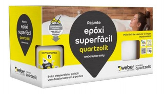Rejunte Epoxi Quartzolit Cores 1kg Cerâmica Porcelanato
