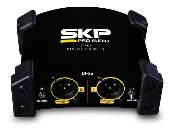 Direct Box Passivo Stéreo 2 Canais Skp Di-2s