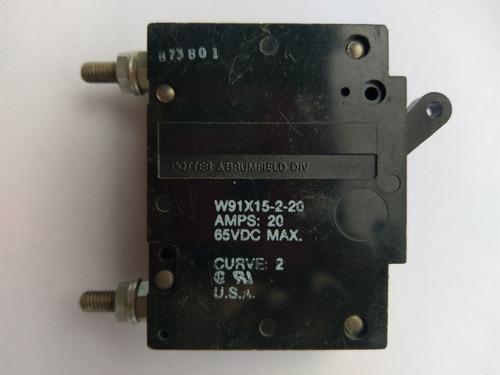 Breaker Para Dc De 65v A 20amp