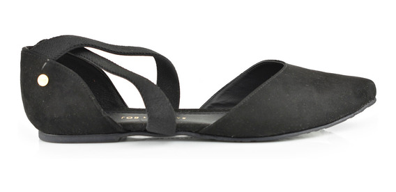 Flat Para Mujer Lob 455-9908 Negro Nuevo Oi19