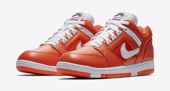 Nike Sb Air Force 2 Low X Supreme Orange