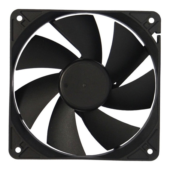 Cooler Para Fuente Negro 8x8 Cm - Netmak Noganet