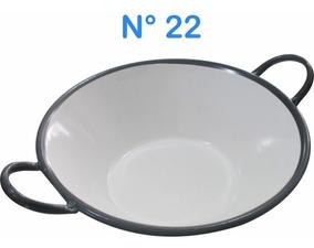Tacho Esmaltado N°22 Para Frituras 20 Litros Batatas Pastel