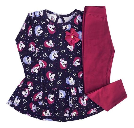 Roupa Infantil Kit 3 Conjunto Menina Frio Barato Atacado