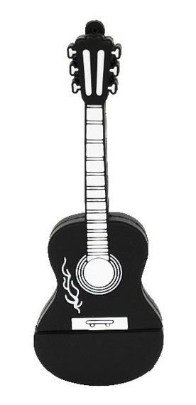 Pen Drive 4g Violão Guitarra Music Moonlight Preto