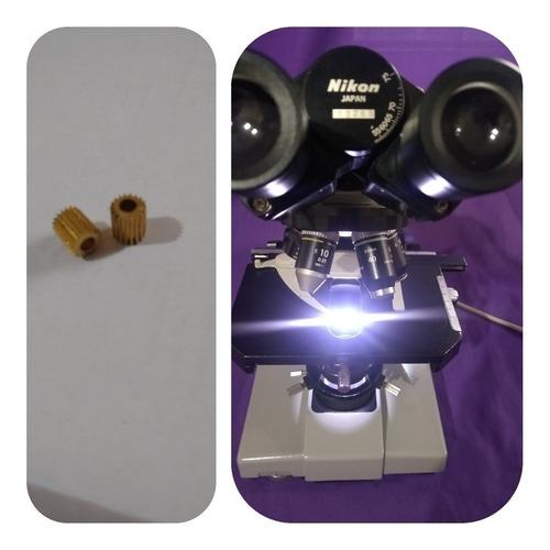 Engrenagem Do Micrométrico Microscópio Nikon Labophot. 2unid