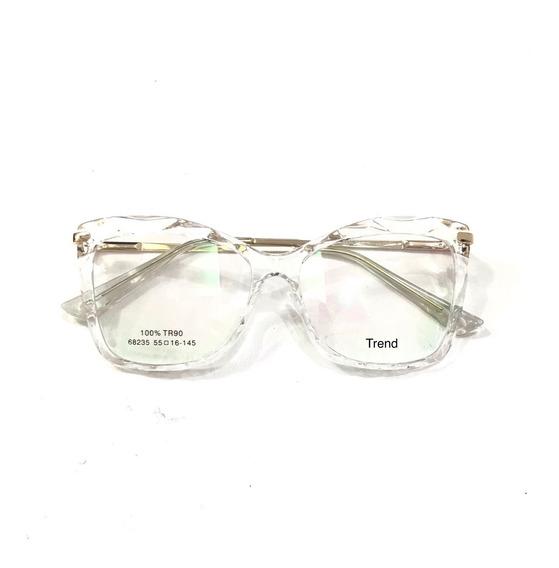 Óculos Armações Feminino Para Lente De Grau Trend-37 Gold