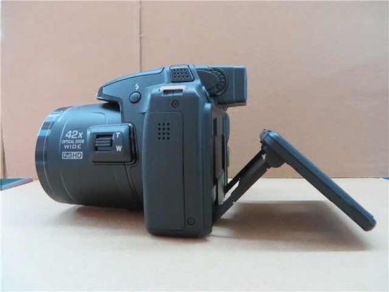 Câmera Nikon Full Hd Semiprofissional Zoom Wide 42x Com Case