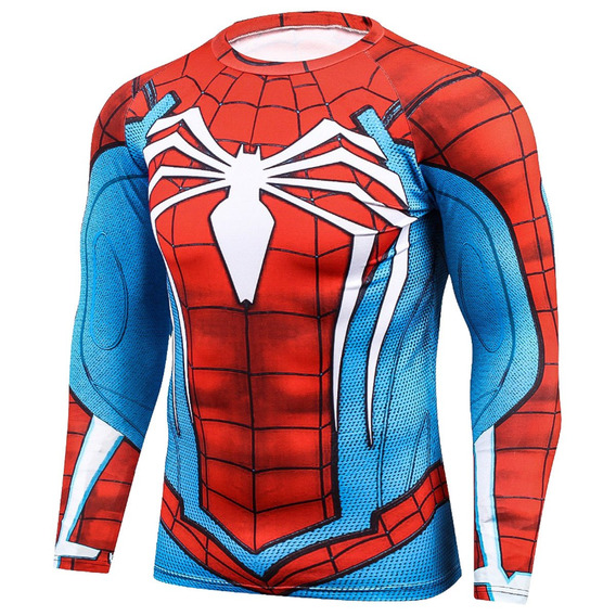 Playera Gym Lycra Spiderman Ps4 Capitan America Batman