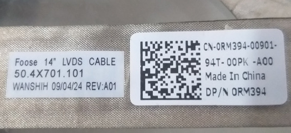 Cabo Flat Cable Tela Placa Dell E5400