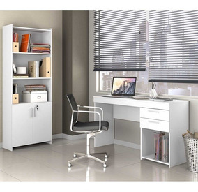 Escritório Com Mesa E Armário Notável Móveis