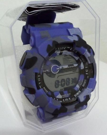 Relógio Militar Camuflado Masculino Aventura Trilha Esporte
