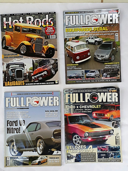 4 Revistas Carros Antigos E Raros Hot Rods Frete Grátis