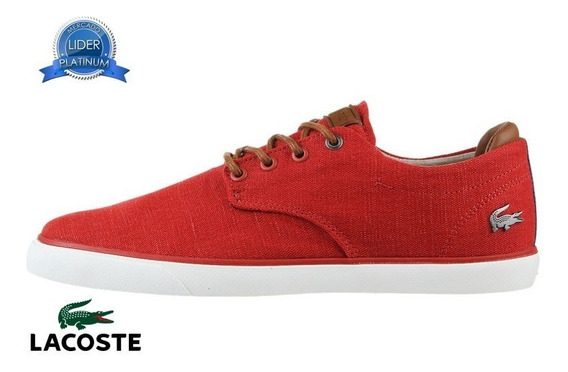 Zapatillas Lacoste Esparre 318 3 Rojo 3p2
