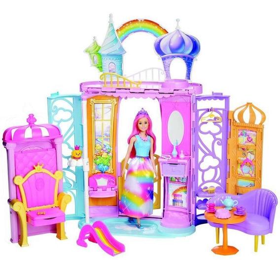 Barbie Castelo Arco Íris Boneca Mattel - Crianças 3 A 7 Anos