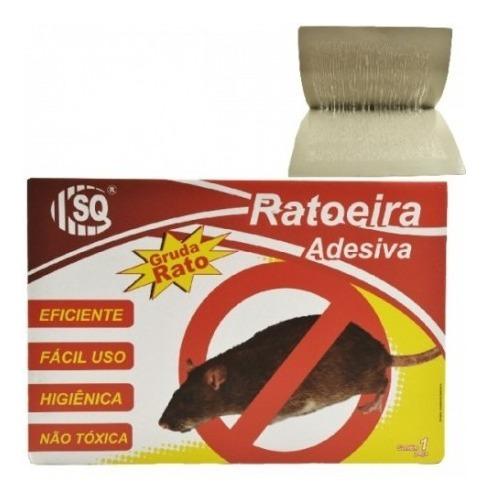 Kit Com 10 Ratoeira Pega Rato Cola Rato Sq