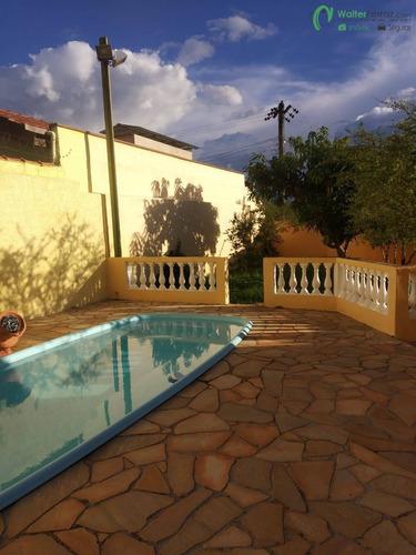 Imagem 1 de 15 de Casa Com 2 Dormitórios, Piscina, Pomar, Em Serra Negra. - 2791