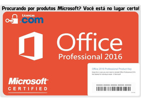 2x Microsoft Office 2016 Professional Esd + Nota Fiscal