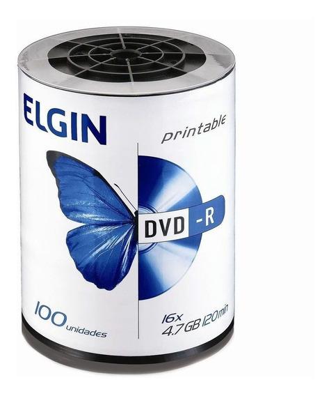 Dvd-r Elgin Premium Printable 16x - 100unidades